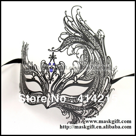 luxury venetian masks design free shipping 48pcs lot black phoenix