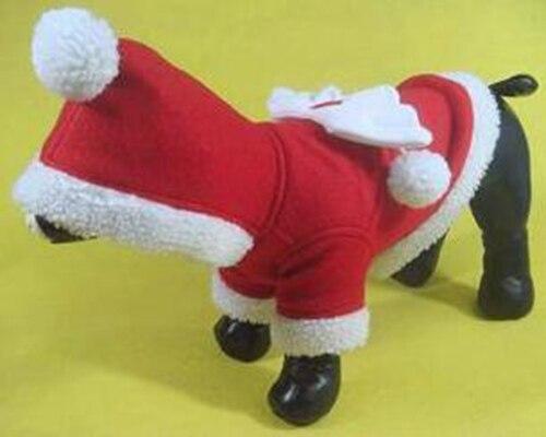 Распродажа собаки кошки Санта Клаус костюм пальто щенок верхняя одежда собачка пальто собака Рождество толстовки Одежда 1 шт. XS-XXL ...