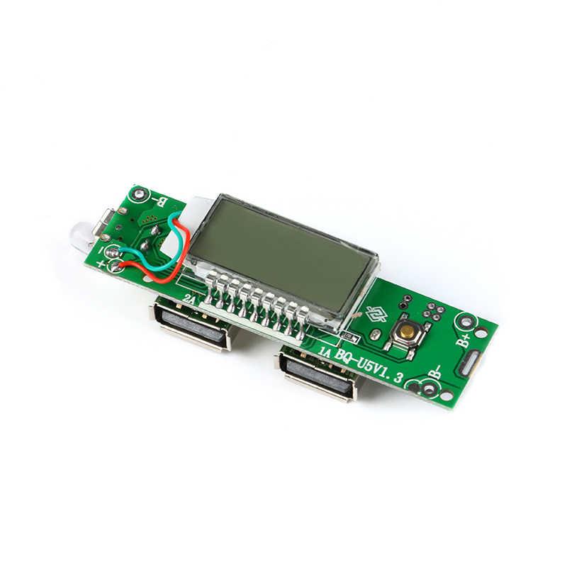2 個 5 V 1A 2A デュアル Usb モバイル電源銀行充電器モジュールデジタル液晶ディスプレイ 18650 リチウム電池の充電ボード電話