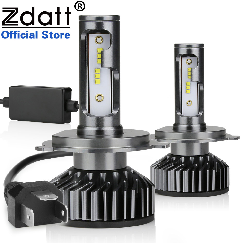 Zdatt H7 LED H4 H11 Canbus Car Light Headlight Bulb Zes 12000LM H8 H1 HB3 9005 9006 H9 100W 6000K 12V 24V Auto HB4 Led Lamp