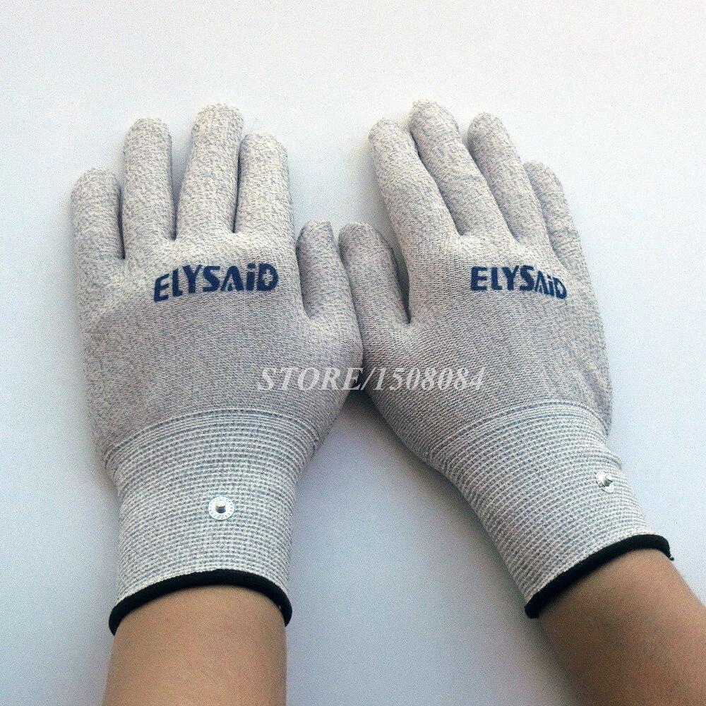 Konduktif perak serat TENS / EMS sarung tangan terapi elektroda + - Penjagaan kesihatan - Foto 2