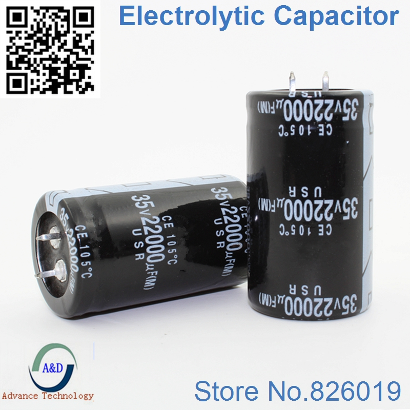 Electrolytic Capacitor 10000uf 100V Low Impedance Long Life 105℃ 35 /× 50mm 2 Pcs