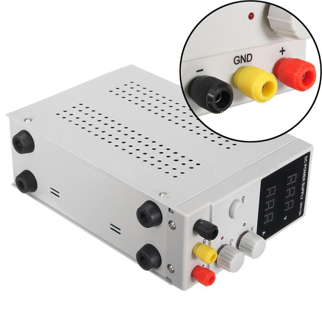 Alimentation à découpage réglable LCD double affichage numérique DC alimentation 30 V 10A avec ligne électrique