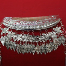 miao silver headdress hmong dance accessories flower comb for stage performance