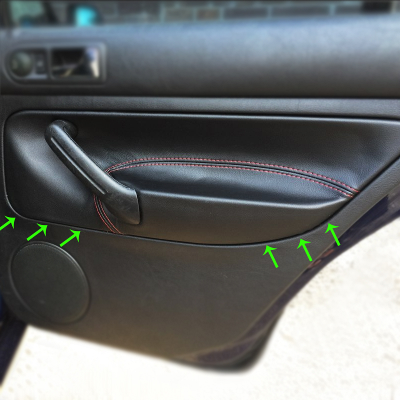 LHD For VW Golf MK4 Bora Jetta 1998 1999 2000 2001 2002 2003 2004 2005 2006 Car Door Armrest Panel Microfiber Leather Cover Trim