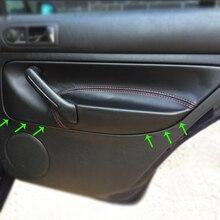 LHD для VW Golf MK4 Bora Jetta 1998 1999 2000 2001 2002 2003 2004 2005 2006 двери автомобиля подлокотник панель микрофибра кожаный чехол отделка