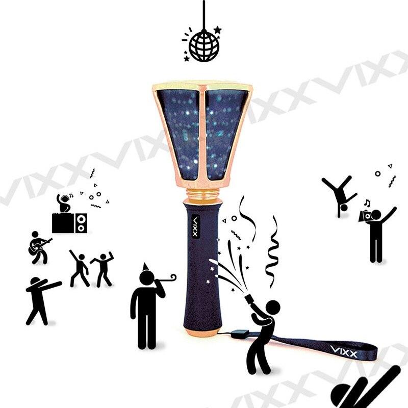 En stock LED KPOP VIXX Ver.2 Officielles Lumière Bâton 2018 Nouveau Bâton Lampe Concert Lumière-up Lampe Ventilateur- fait Cadeau Collection LightStick
