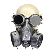Silver Cosplay Gothic Rock Military Goggles Retro Full Face Respirator Gas Mask Filter Halloween Steampunk Costume Accessories