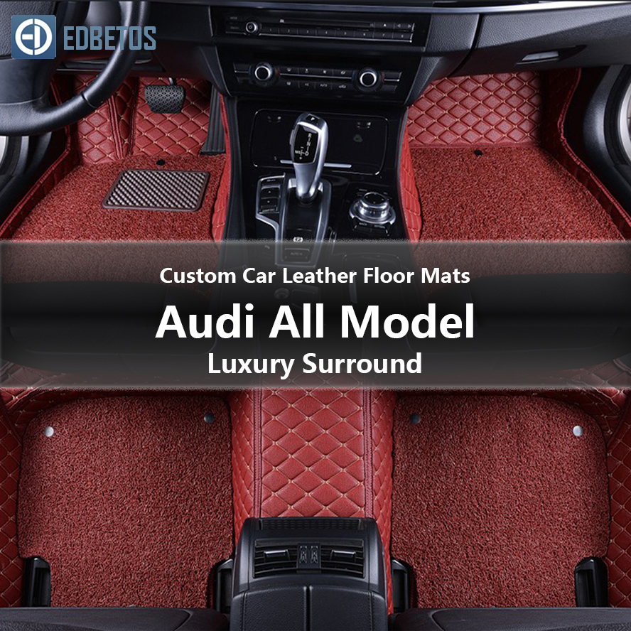 Custom Car Leather Floor Mats for Audi Q7 Q5 Q3 A2 A4 A5 A6 A7 Luxury Surround Wire Floor Mat 2007 - 2019 image