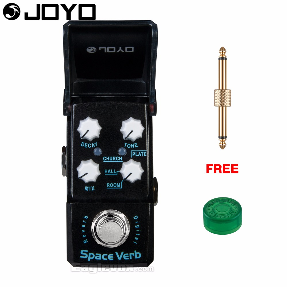 Joyo Ironman JF-317 Space Verb Digital Reverb Guitar Effect Pedal True Bypass with Free Connector and Footswitch Topper joyo jf 317 space verb digital reverb mini electric guitar effect pedal with knob guard true bypass