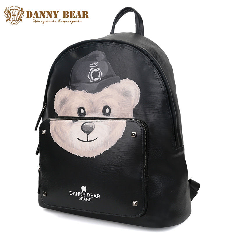 DANNY BEAR Women Vintage Leather Backpack Bags Cheap School Backpacks For Teenage Girls Boys Travel Back Pack Mochila Feminina danny bear women vintage leather backpack cheap cute school backpacks for teenage girls large shoulder bags man travel daypack