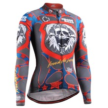 Life on track Skull Graphic Women Long Sleeves Cycling Jersey 4 Seasons Slim-fitting MTB Bike Bicycle Tops Jackets S-2XL