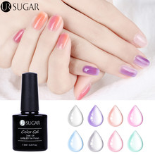 UR SUGAR 7,5 ml Opal Gelé Gel Soak Off UV Gel Polska Manikyr Nail Art Semi Vernis Permanent Lak Lacquer DIY Nagellack