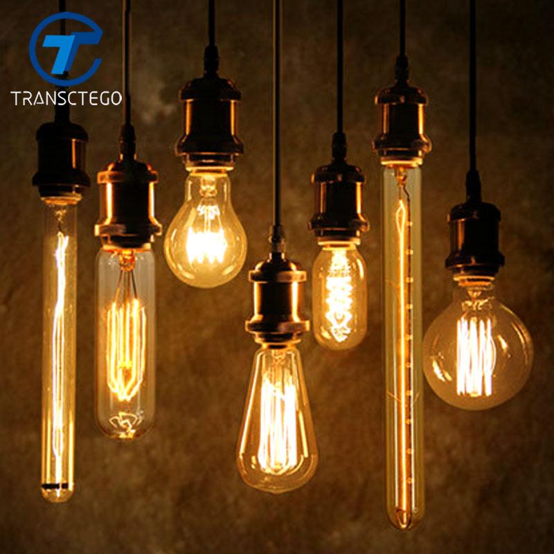Edison Bulb Antique Vintage Lamp E27 40W 110V 220V Retro Edison Bulbs Personality Eecora ...
