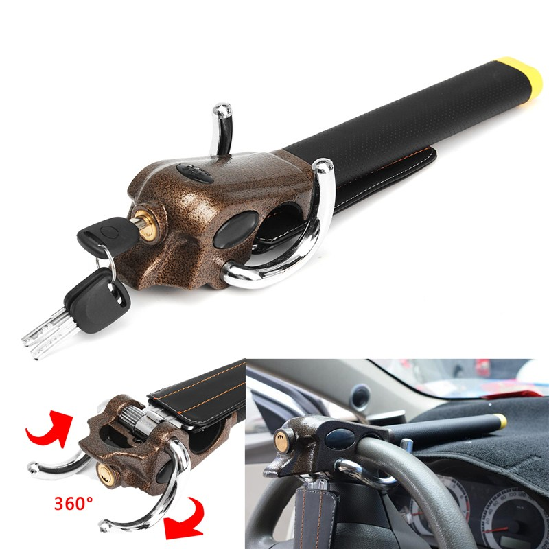 Universal Car Steering Wheel Foldable Lock Anti Theft Security Lock with Keys Safe Devices Vehicle Lock for Car
