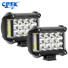 CREK 2pcs/Lot 4 Inch 57W Offroad LED Work Light SUV Driving Motorcycle For 4x4 4WD ATV
