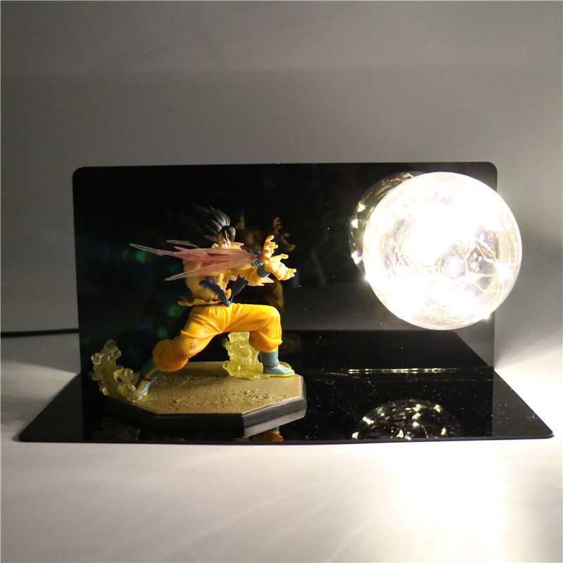 Dragon Ball Z Action Figures Son Goku Kaiouken Kamehameha DIY Anime LED Night Light Dragonball Z