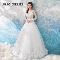 Long Sleeves Wedding Dresses A Line Top Lace With Beades Vestido De Noiva Vintage Floor Length Wedding Dress Boho