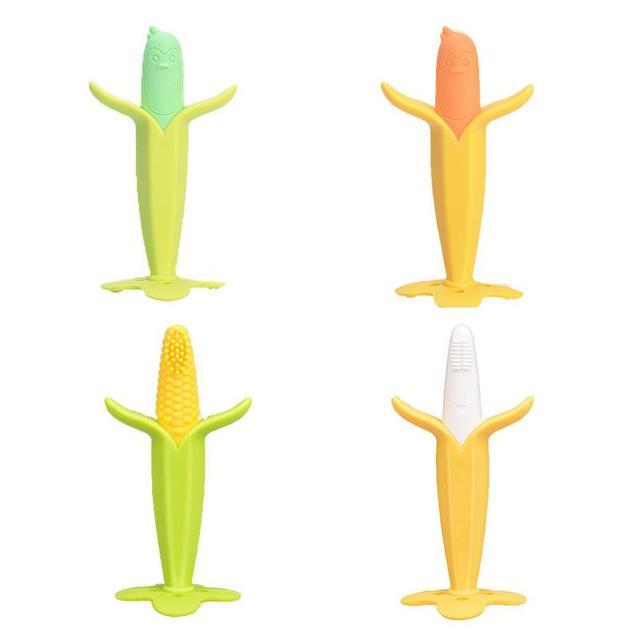 Banana Corn Molar Stick Baby Toy Cartoon Teether Bite Stick Children Silicone Molars Stick Environmental And Safety