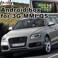 Android 4.4 5.1 okno nawigacji GPS dla Audi A1 A4 A5 A6 Q3 Q5 Q7 A7 itp system video interface MMI 3G z odlewu ekran