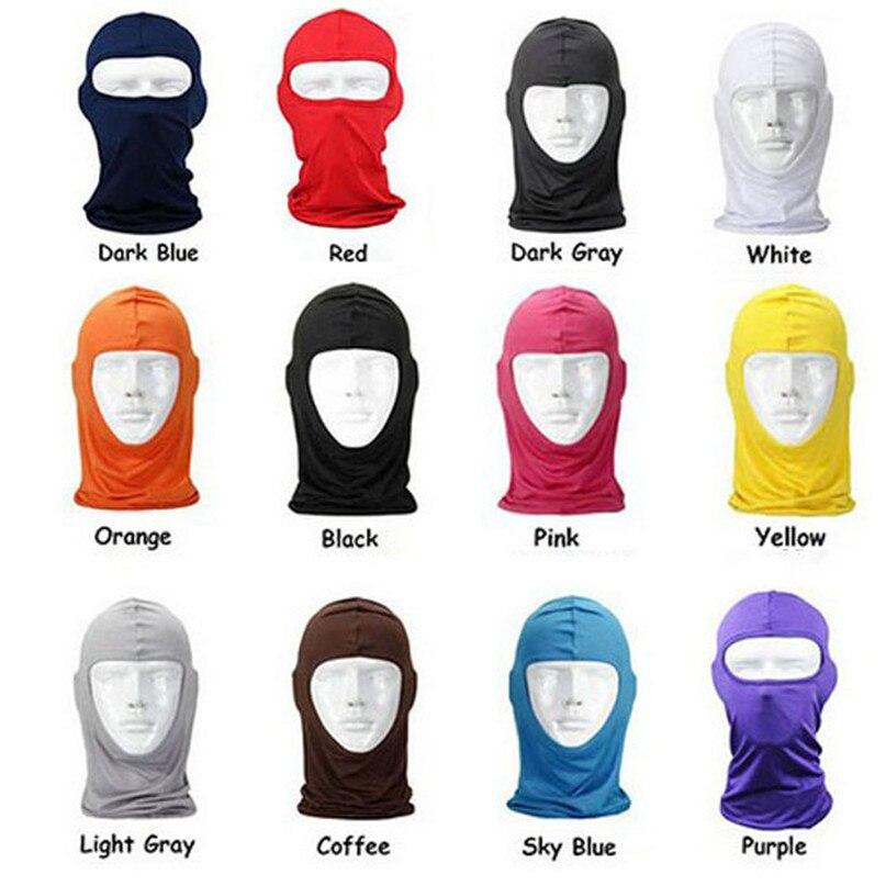 New Classic Lycra Ski Face Mask Bike Bicycle CS Sports Football Mask Balaclava Headband headgear halloween face mask #2a (6)