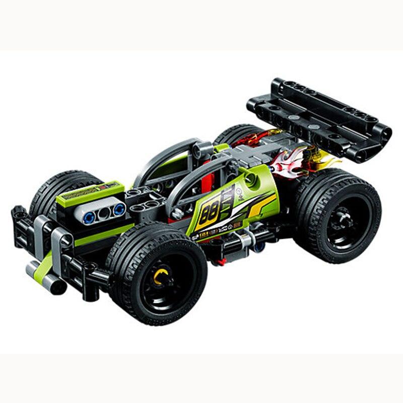 Technic 2 in 1 WHACK pull back fit for LegoING 42072 race car children bricks model building sale toys gift for kids