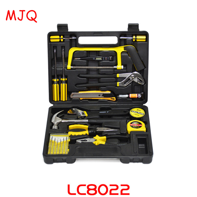 22pcs Household Tool Set Carbon Steel Screwdrivers Inner Hexagon Spanner Wrenches Hammer Knife Combination Car Repair Tools