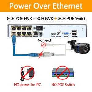 Image 3 - Enregistreur vidéo en réseau, 4 ou 8 canaux, pour caméra IP HD 1080P, PoE 802.3af ONVIF, 4ch x 5MP/8ch x 4MP, vidéosurveillance, NVR, avec porte PoE h265