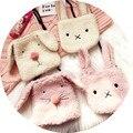 Children bags Cute messenger bags for litter girls/boys Cartoon rabbit/dog coin purses wallet handbags wool kids shoulder bags