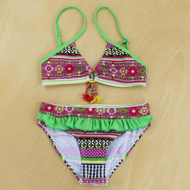 402c8d19d 2018 nuevo verano Maya rayas traje de baño para niñas bebés niños playa  Bikini conjuntos dos
