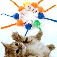 10Pcs/lot Cat Toys Mini False Mouse Toys For Cats Kitten Animal Funny Playing Interactive