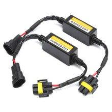 2PCS 9005/9006 H11 H4 H13 H7 Car LED Headlight Fog light Canbus Error Anti Flicker Resistor Canceller Decoder цена