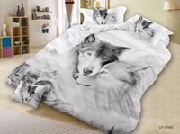 BEST.WENSD wolf lions tiger hello kittybed covers and comforters queen bed set Animal Home textile bedspread bedsheets edredom