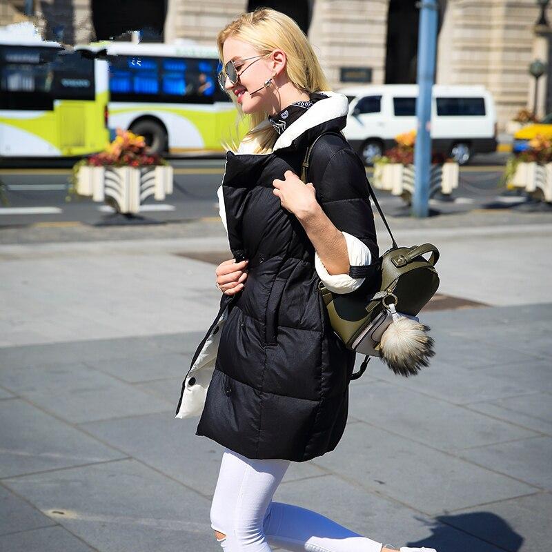 Duvet Nouvelles 2019 Mode Mince black Veste Manteau Vêtements Haute Hiver Bas Whf92 Blanc Canard Le Lâche Qualité Khaki Chaud Femmes De Super Vers wxvtp08qq