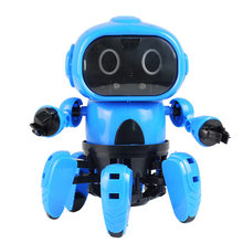 Kids DIY Assembled Infrared Electric Induction Intelligent Smart Robot Educational Body Gesture Model Toy Birthday Gift Present(China)