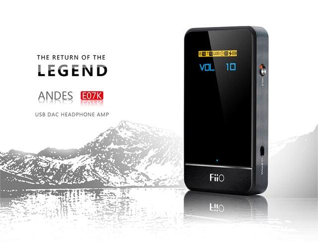 Портативный USB Dac Усилитель Для Наушников Fiio E07k Модернизированный E7 96 КГц/24Bit 250 МВт HIFI Без Потерь Для Mp3-плеер Телефон Пк Pad L7