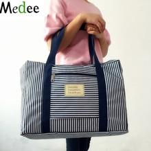 Medee 2016 New Fashion WaterProof Travel Bag Сумка велика місткість жіноча складна сумка Чоловіча сумка для дорожнього багаття смугаста крапка TRA001