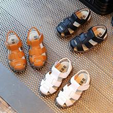 Buy Leather Sandals Boys 2019 Summer Fashion Soft Leather Kids Sneaker Children Girls Casual Sandals Shoes directly from merchant!