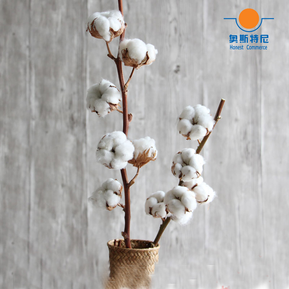 1pcs Dried Artificial Flower Bouquets Dried Cotton Branch