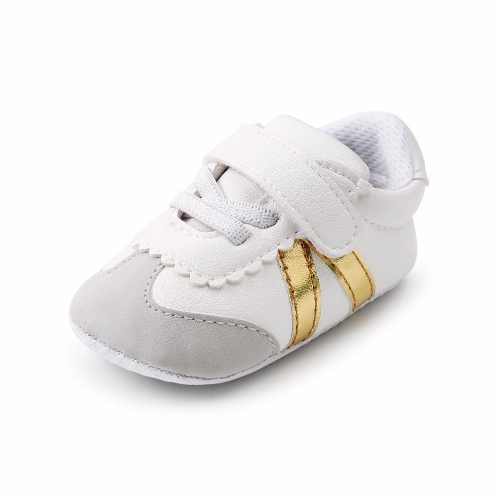 Baby Baby Boy Meisjes Schoenen PU-leer Gestreepte katoenen - Baby schoentjes - Foto 4