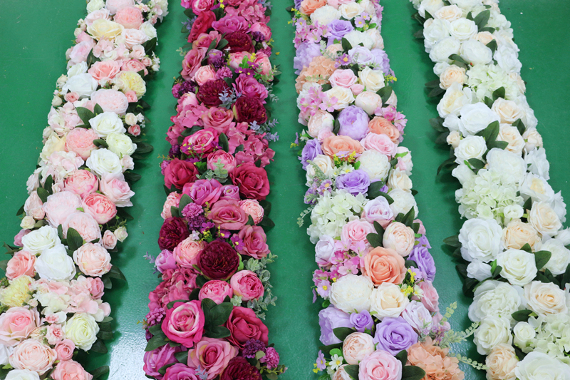 JAROWN Artificial 2M Rose Flower Row Wedding DIY Arched Door Decor Flores Silk Peony Road Cited Fake Flowers Home Party Decoration Maison (36)