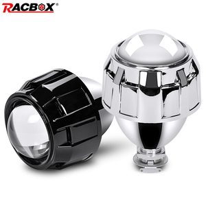 1 Pcs 2.5 inch Motorcycle Headlight Bixenon HID Projector Lens High Low Beam Light Use H1 Bulb With H4 H7 Adapter for Motorbike