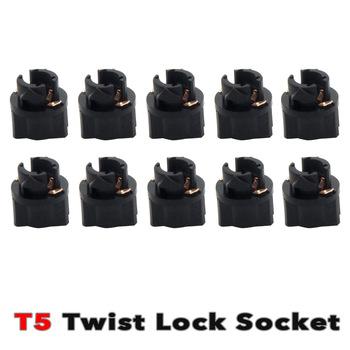 10x T5 LED Twist Socket PC74 tablica rozdzielcza tablicy rozdzielczej tanie i dobre opinie Siweex Dashboard wskaźnik ostrzegawczy LADA Samara 1992