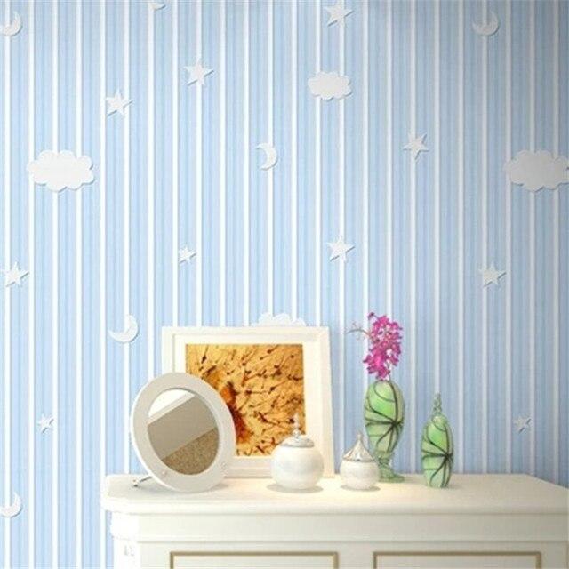 Kinderzimmer Lila Beige das kinderzimmer fr mdchen ist eine kleine mrchenhafte welt Kinderzimmer Umwelt 3d Stoff Tapete Streifen Der Mond Und Sterne In Die Blau Grn Rosa Lila