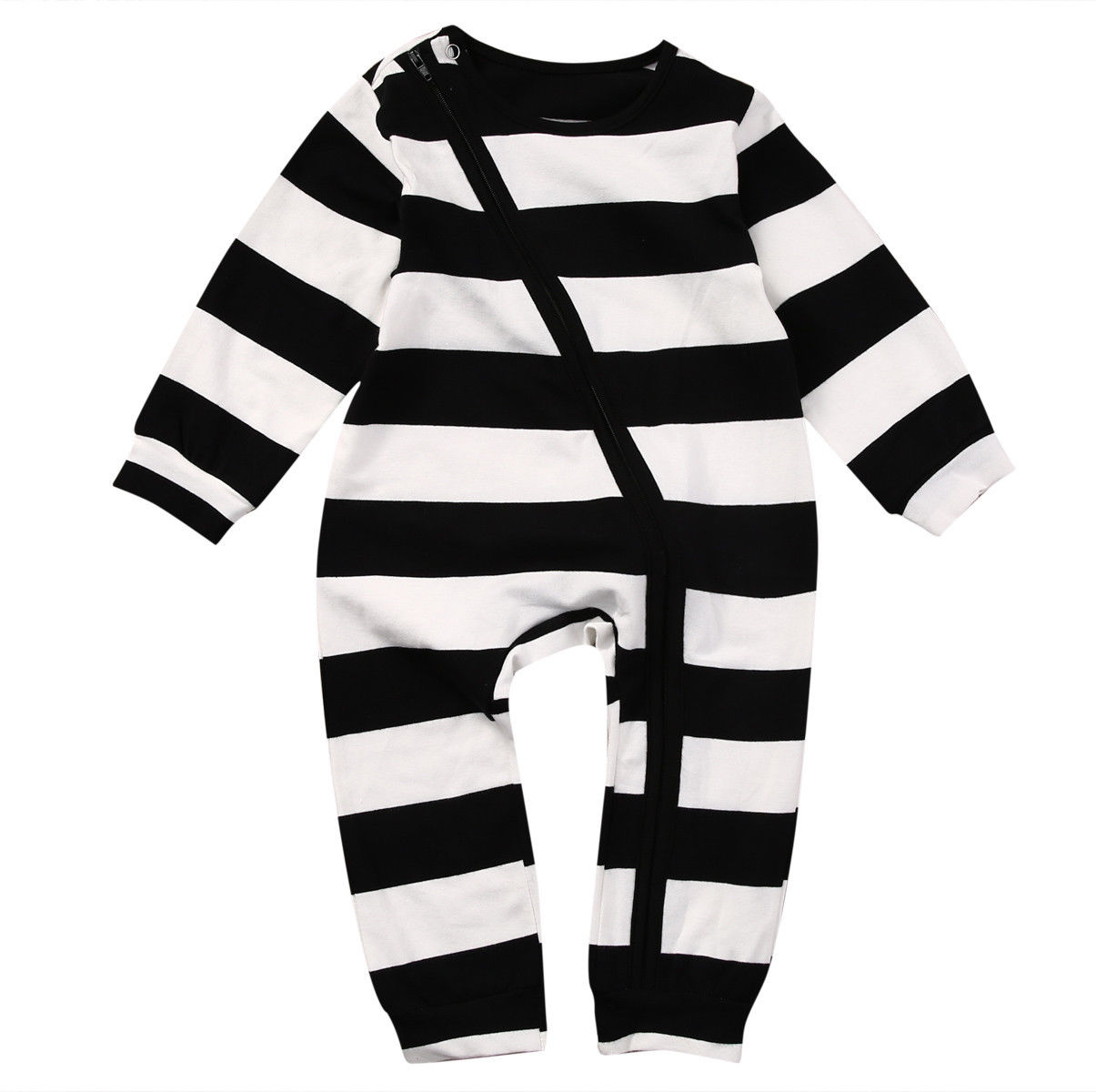 50ea3225c4b Unisex Baby Kids Boy Girl Long Sleeve Striped Romper Cotton Jumpsuit  Playsuit Outfit Clothes-in Rompers from Mother   Kids on Aliexpress.com
