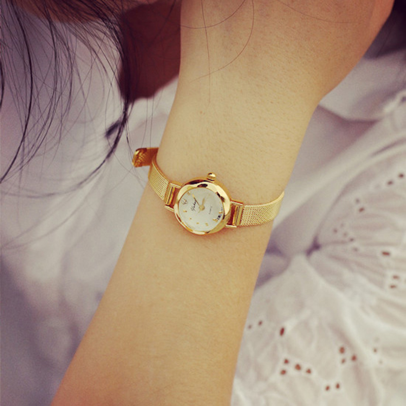 Fashion Top Brand Watches Women Casual Gold Colour Multi-function Table Quartz Watch Lady Waterproof Relogio Masculino