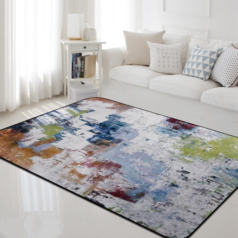 Nordique abstrait salon tapis doux tapis Table basse tapis de sol chambre canapé chaise antidérapant absorbant Polyester tapis
