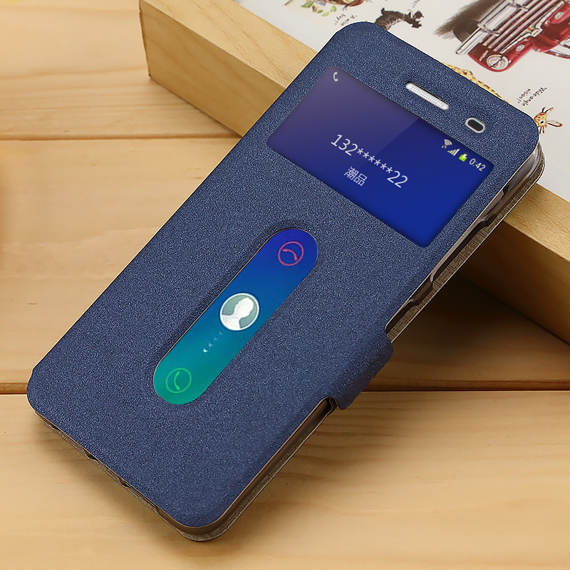 Flip Cover for Lenovo S850 Case View Window Leather Case for Lenovo S850T S 850 Stand Phone Cases & Bags S850 Back Cover