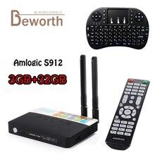3 ГБ 32 ГБ CSA93 TV Box Amlogic S912 Octa core Android 6.0 TV Box 2.4/5 г Wi-Fi H.265 4 К 1000 м BT4.0 Smart meida плеер