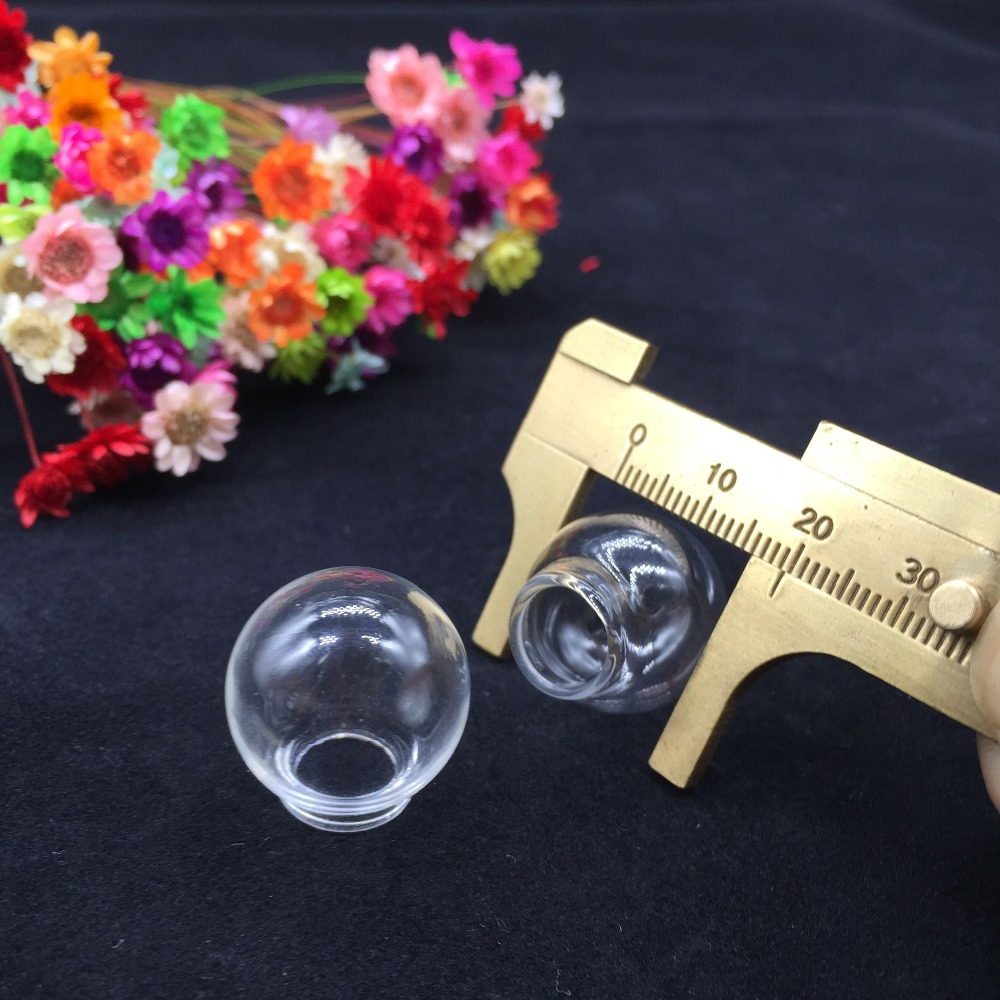 10 Vial Pendants MINI GLOBES mini// vials// glass